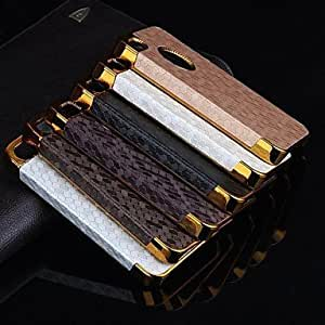 YULIN Football Lines Pattern Back Cover Case for iPhone 4/4S(Assorted Color) , Brown
