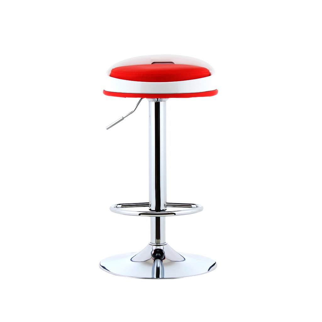 RED Mesurn Bar Stool Bar Stool High Stool European Style Bar Stool Home Simple Chair Height 63-83cm (Multiple colors) (color   RED)