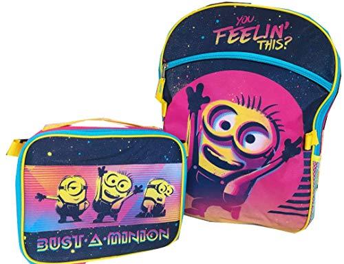 미니언 비열한 나 배낭 대형 점심 키트 가방