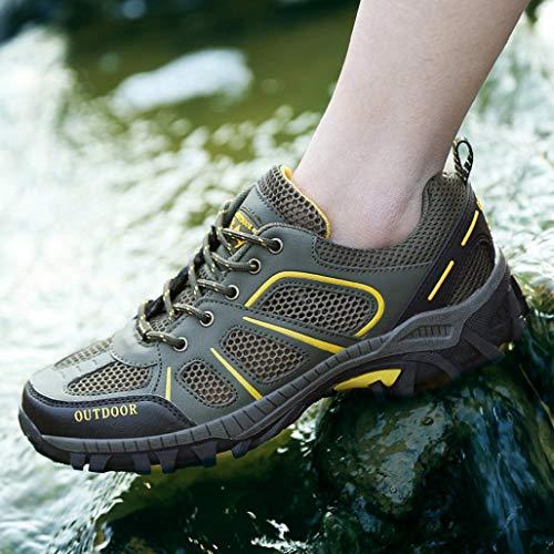 Libre Deportivas De Logobeing Malla Running 36 Cordones Zapatos Zapatillas Aire Mujer Ascendente Verde 40 Sneakers Senderismo Correr r5EEWYBq