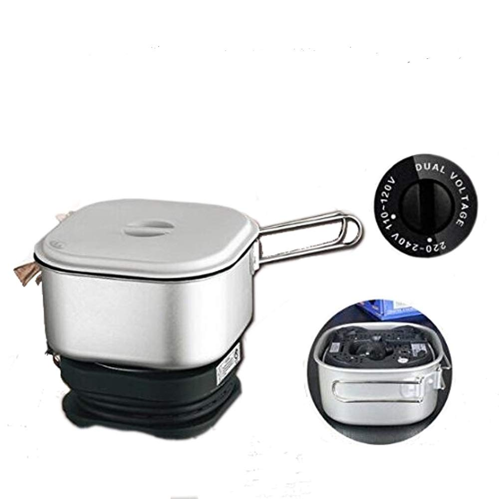 110V/220V Dual Voltage, Worldwide Use, Travel Cooker Portable Mini Electric Multi-pots Machine Hotel Travel Multi Cookers