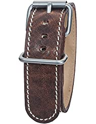 Bertucci B-126M Montanaro Survival Horween Leather Nut Brown 22mm Watch Band