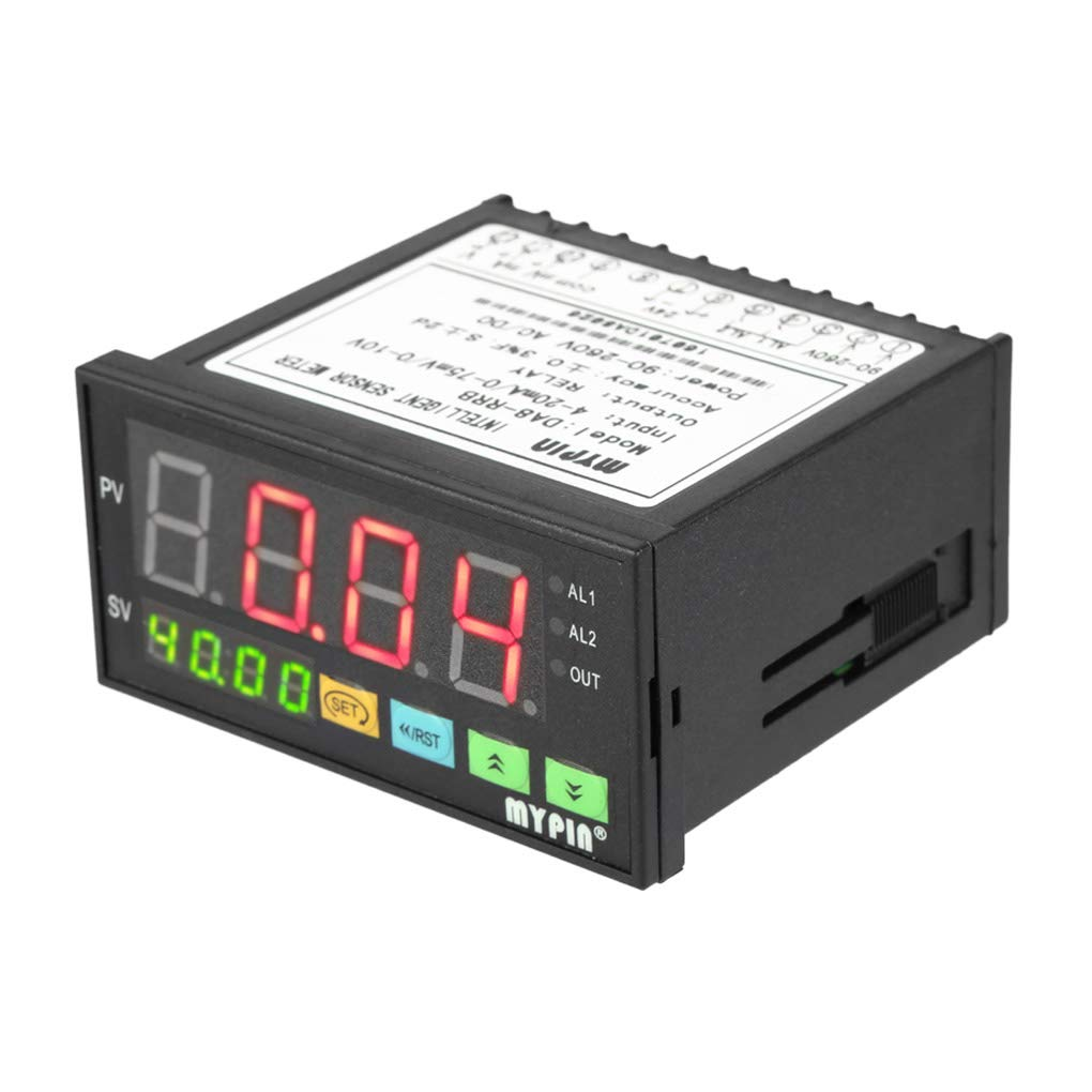 Morza MyPin Digital Sensor Meter Multifunktionales Intelligente Drucktransmitter LED 0-75mV / 4-20mA / 0-10V 2 Relais Alarmausgang