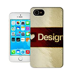 CoDesign I Love Design Protective Plastic Cover Case Designed for iPhone 4 4s