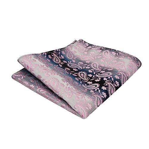 Pocket with Alizeal Square Pink Paisley Tie Classic Mens Set AFA7XBIq