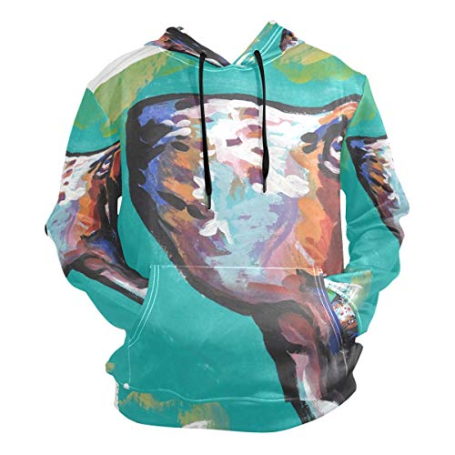 Unisex 3D Basset Hound Print Hoodies Sweatshirts Long-Sleeved Pullover with Pocket XXL