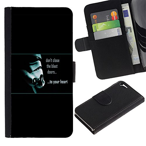 UNIQCASE - Apple Iphone 5 / 5S - Don't Close The Blast Doors - Cuir PU Coverture Shell Armure Coque Coq Cas Etui Housse Case Cover