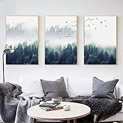 Forest Lanscape Wall Art Canvas Poster and Print Canvas Painting Decorative Picture Picture 1 30x40cm No Frame
