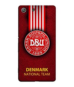 ColorKing Football Denmark 07 Red shell case cover for Sony Xperia Z3
