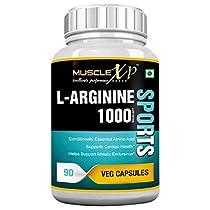 MuscleXP LArginine 1000mg 90 Veg Caps for Athletic Enduran