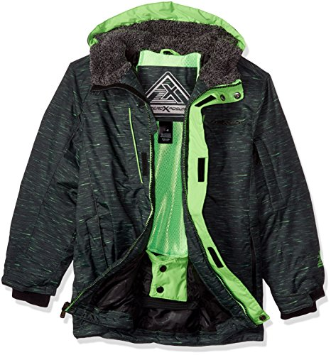 ZeroXposur Big Boys' Squad Snowboard Jacket, Neon Lime, Large