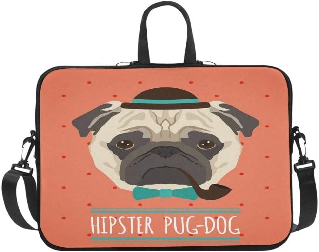 Laptop Sleeve Case,Hipster Puppy Dog Dressed in Halloween Costumes 14-14.5 inch Briefcase Messenger Notebook Computer Bag