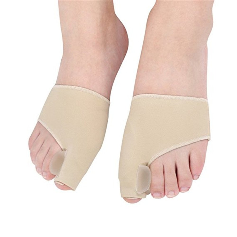 Bunion Crooked Gel Toe Pad 1Pair Toes Corrector Splint Pads Seperators Spreader Qiqilei