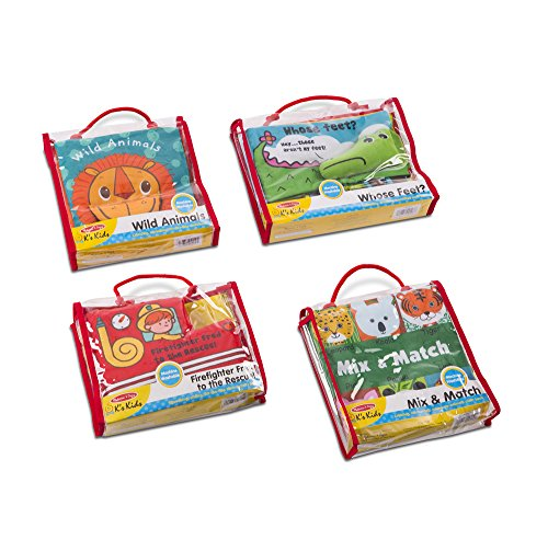 Melissa   Doug Soft Activity Book 4 Pack Wild Animals  Firefighter Fred To The Rescue  Mix   Match  Whose  Baby Toy