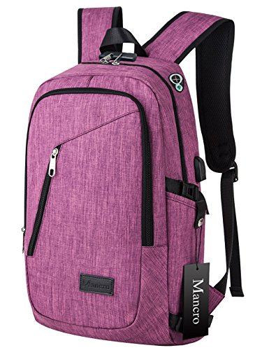 college-backpack-mancro-laptop-bag-with-headphone-port-and-usb-charger-ports-slim-anti-theft-travel-