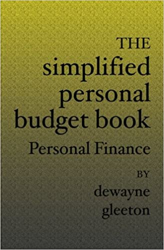 the simplified personal budget book personal finance dewayne