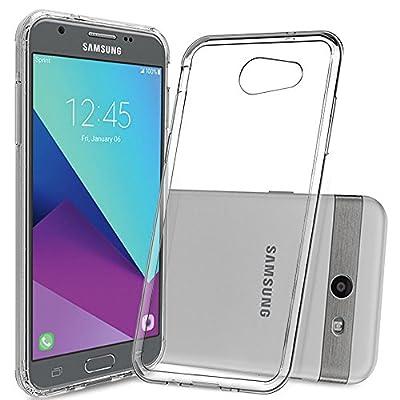 Galaxy J3 Prime / J3 Mission / J3 Eclipse / J3 Luna Pro / J3 Sol 2 / J3 Emerge / Amp Prime 2 / Express Prime 2 Clear Case with HD Screen Protector,Anoke Slim Fit TPU Bumper for Samsung J3 2017