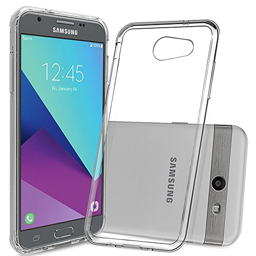 Galaxy J3 Emerge Case,Galaxy J3 Eclipse/J3 2017/J3 Prime/J3 Mission/Luna Pro/Sol 2/Amp Prime 2/Express Prime 2 Case with Screen Protector,Anoke Slim Fit Phone Cover Case for Samsung J3 Emerge TM Clear