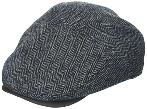 - Henschel Men's Herringbone New Shape Ivy Hat with Suede Visor, Gray, Large