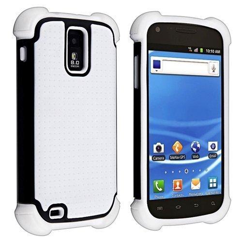 Hybrid Armor Case for Samsung Galaxy S II S2 Hercules aka T-Mobile T989, White/ Black