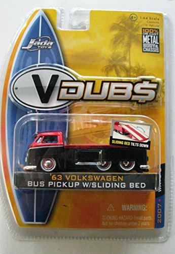 Jada toys V Dubs 1:64 Scale '63 Volkswagen Bus Pickup With Sliding Bed 2007 Wave 2