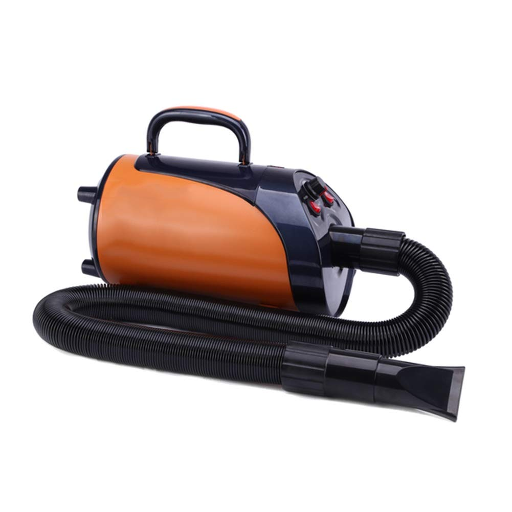 orange Ryan Dog Dryer, Professional Shower Grooming Adjustable Temperature Low Noise For Cat Small Animals Hair Stepless Speed Change Blower Heater (color   orange)
