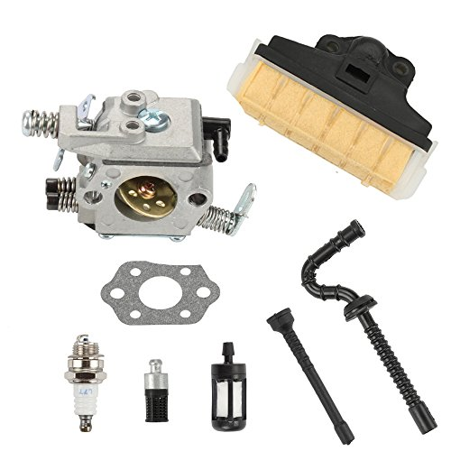 (Anzac Carburetor Carb Kit with Air Oil Filter Fuel Line Hose Spark Plug for Stihl MS210 MS230 MS250 021 023 025 Chainsaw)