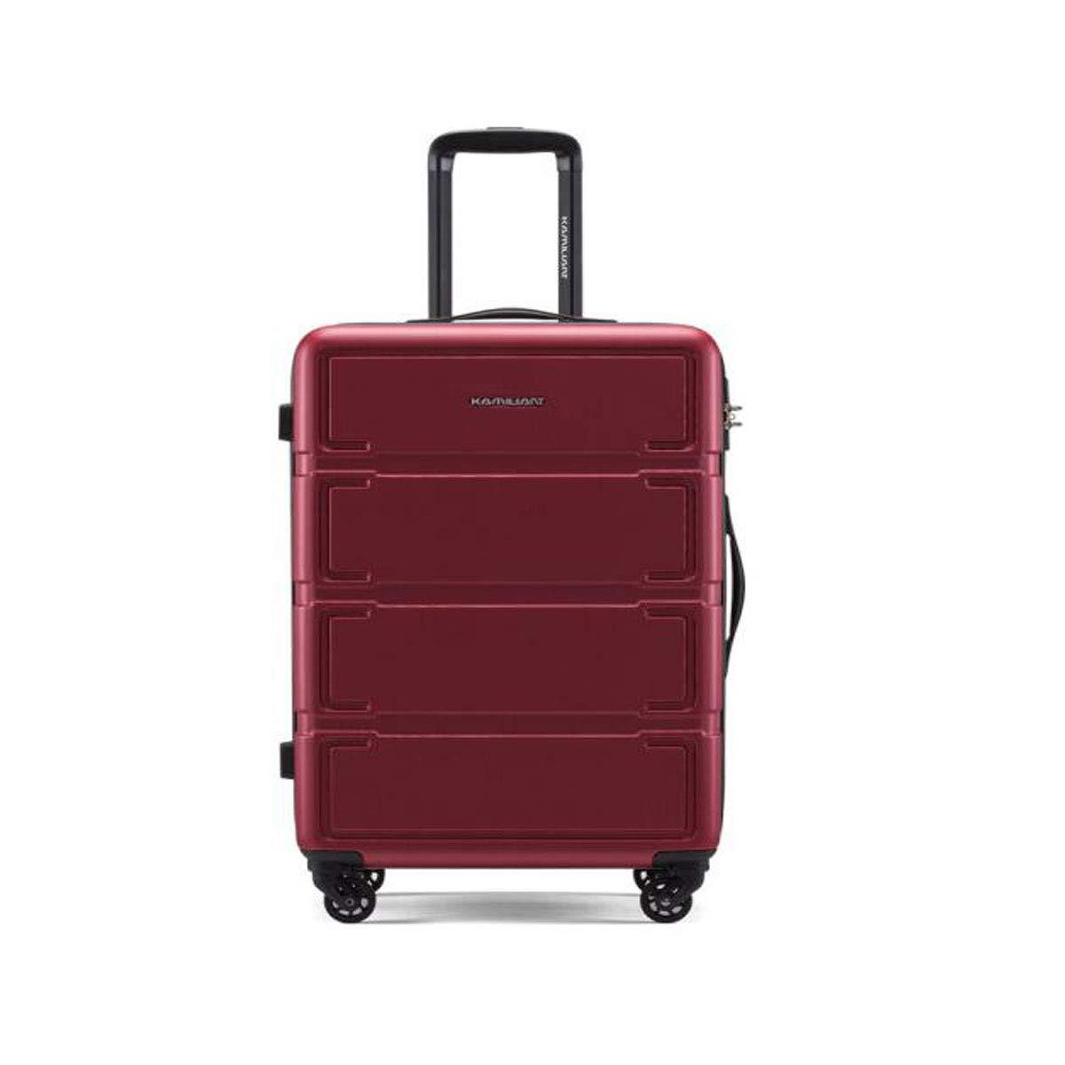 Aishanghuayi トロリーケース 2ピース スーツケース 回転式ハードケース ブラック サイズ (36 24 58) cm (カラー:ワインレッド サイズ:151024インチ) B07MT5WQ8G