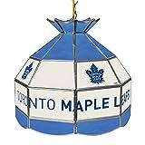 Trademark Gameroom NHL 16 Inch Handmade Tiffany Style Lamp-Toronto Maple Leaf