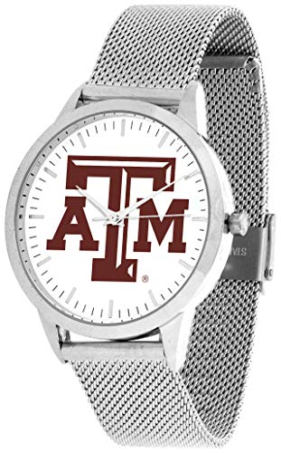 (Texas A&M Aggies - Mesh Statement Watch - Silver Band)