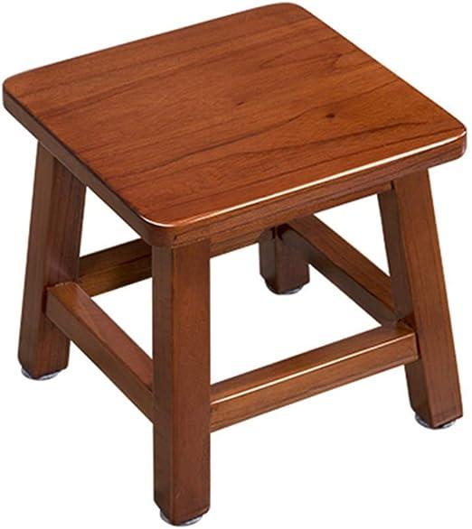Amazon.com: Taburete pequeño de madera para mesa de café ...