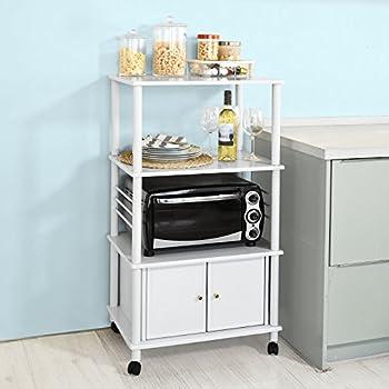 Haotian Microwave Shelf Mini-shelf, Kitchen Appliances Storage Shelf Rack, FRG12