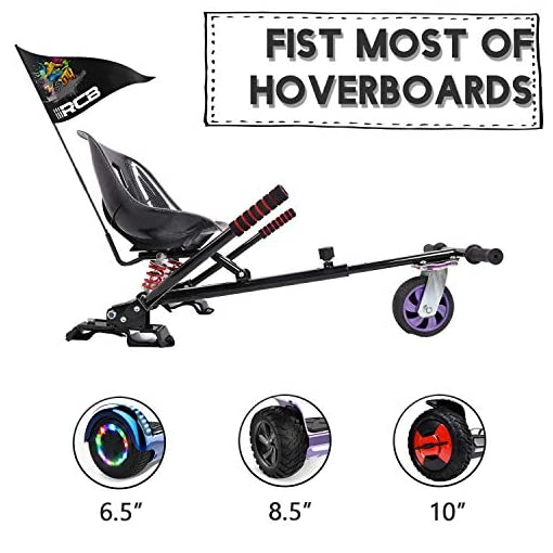 GeekMe Hoverkart, Siège Hoverboard, Hoverkart Tout-Terrain, Hoverkart avec Absorption des Chocs, Hoverkart Convient à Hoverboard 6.5.8.5.10.inch, Cadeau pour Enfants