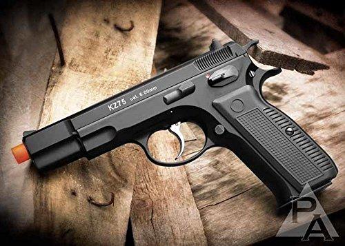 Pistola de retroceso de gas kwa kz75 airsoft versión ns2 - negro (pistola Airsoft)