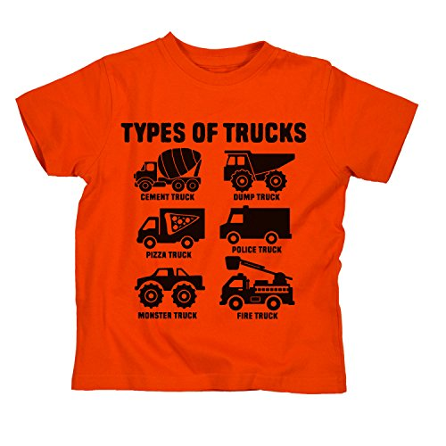 Types of Trucks Fire Monster Dump Truck Construction Novelty Toddler T-Shirt