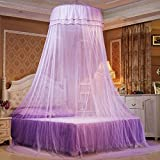 LUSTAR® Court Style Mosquito Net Bed Canopy For Children Fly Insect Protection Indoor Decorative Height 270cm Top Diameter 0.65m