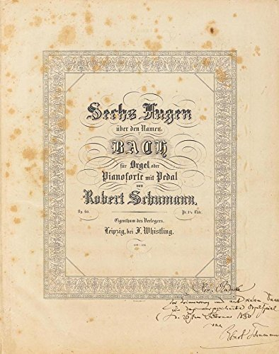 (Schumann, Robert. (1810?1856) [Radecke, Robert. (1830?1911)]: