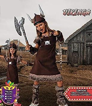 Costumizate! Disfraz de Vikinga Talla 7-9 Especial para niñas ...
