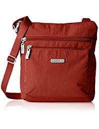 Baggallini Pocket Lightweight Crossbody Bag–Spacious, Water-Resistant Travel Purse with RFID Wristlet