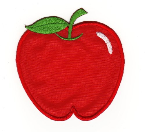 Red Apple Fruit Sew-on Iron-on Patches for Kids Children Baby Embroidered Applique