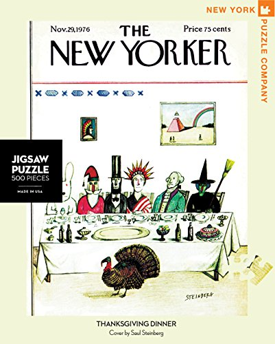 New York Puzzle Company - New Yorker Thanksgiving Dinner - 500 Piece Jigsaw Puzzle
