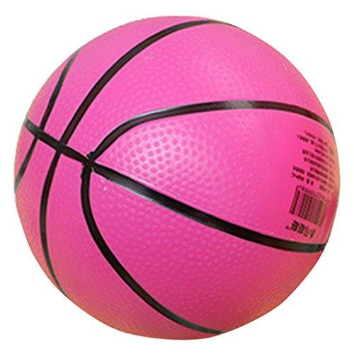 Mini Baloncesto Hinchable Deportes Bola Juguetes de Niños Interior / Exterior de Regalo de Color Rojo-rosa