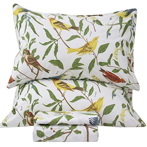 Queen's House Cottage Birds Bed Sheet Sets Queen Size-W (Count Bird)
