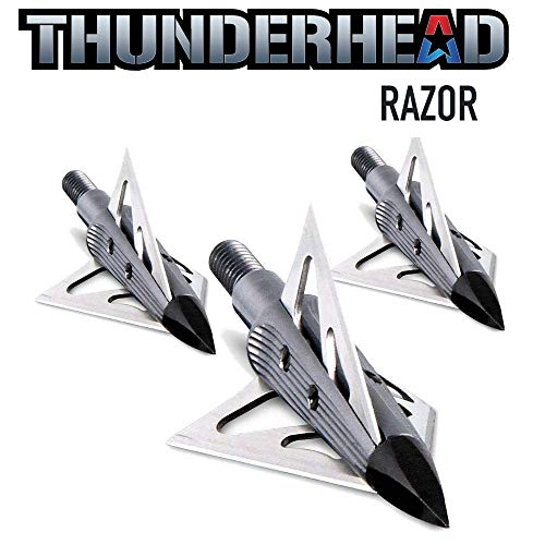 New Archery Products NAP Thunderhead Razor Fixed Blade Broadhead 100 Grain 3 Blade Trophy Tip 3 Pack