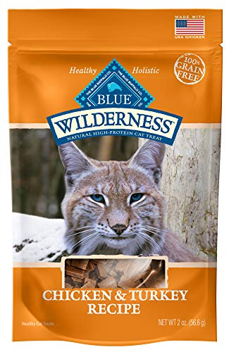 Blue Buffalo Wilderness Grain Free Soft-Moist Cat Treats, Chicken & Turkey 2-oz bag