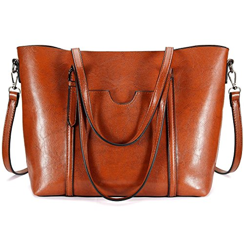 Leather Satchel Bag Purse - 8