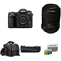 Nikon D500 DX-Format Digital SLR Body w/ Macro Lens and Deluxe Battery Grip Bundle