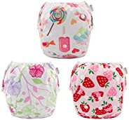 Babygoal Baby Reusable Swim Diaper, Washable and Adjustable for Babies 0-2 Years, Swimming Lessons 3SD04-CA