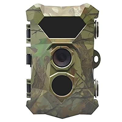 16MP 1080P Full HD Trail Camera with IP66 Waterproof Motion Activated Night Vision 2.4 Inch LCD Screen 70°Wide Angle Lens Wildlife Home Security Hunting Game Camera