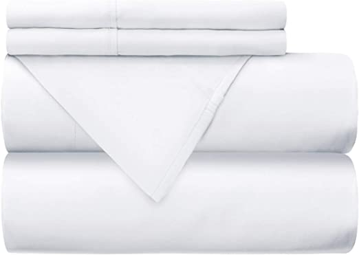 Mellanni - Juego de sábanas 100% algodón – 300 hilos percal ...